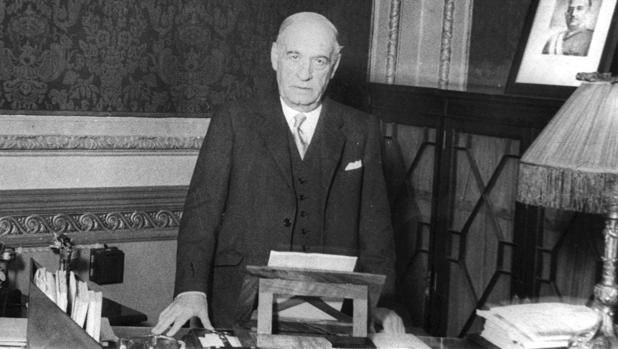Fotografía de José Ortega y Gasset, en 1948
