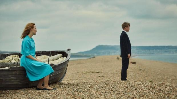 Escena de «En la playa de Chesil», basada en la obra de Ian McEwan