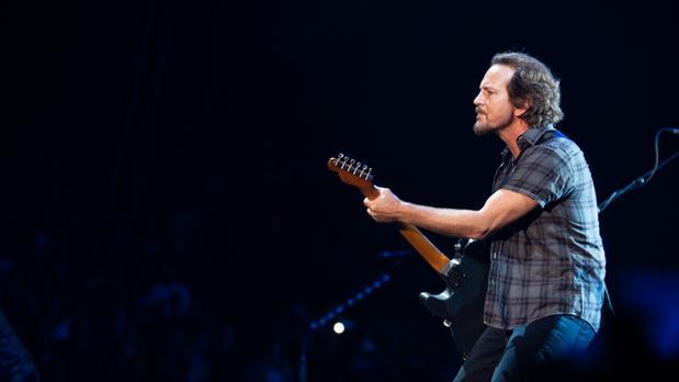 Eddie Vedder, durante el concierto de Pearl jam en Barcelona
