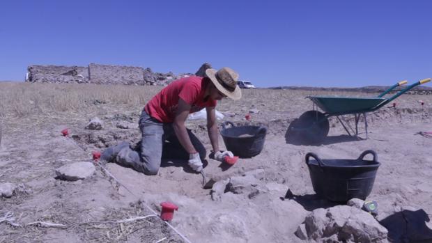 Trabajos arqueológicos en Caraca