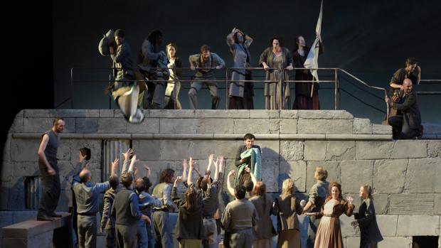 Una escena de «Dido and Eneas» en Aix-en-Provence