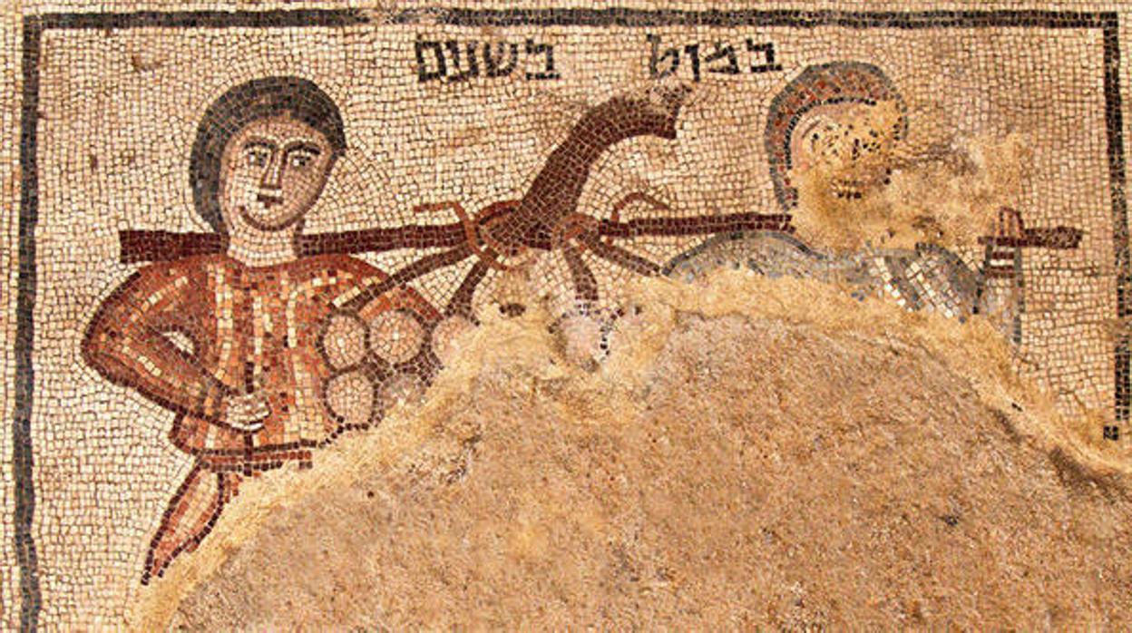 Descubren un mosaico en el que aparecen los espías bíblicos de Moisés