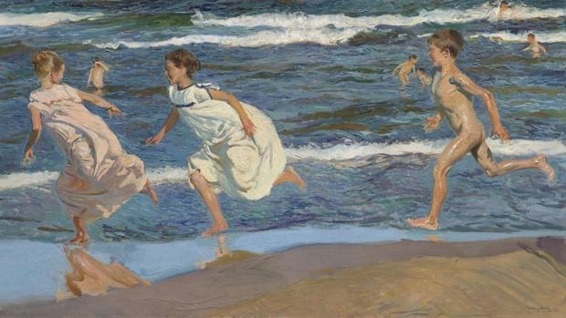«Corriendo por la playa» (1908)