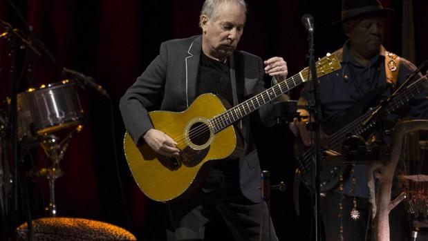 Paul Simon, durante su concierto en Madrid en 2016
