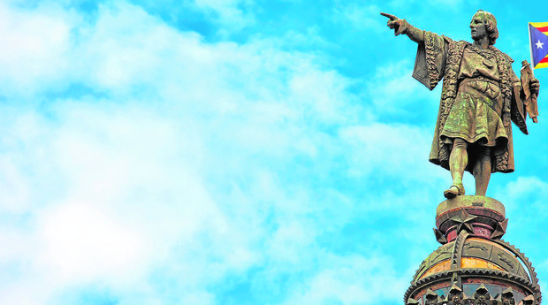 La estatua del genovés en Barcelona