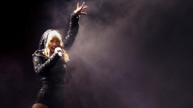 Taylor Swift, en un concierto en el Wembley Stadium de Londres el pasado 22 de junio