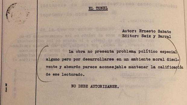 Extracto del expediente de la censura franquista, emitido el 15 de noviembre de 1965