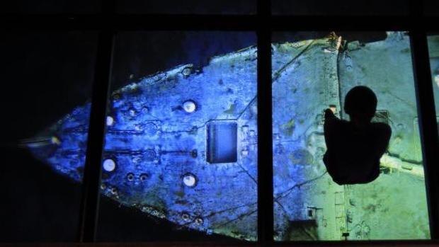 Imagen del naufragio en el centro