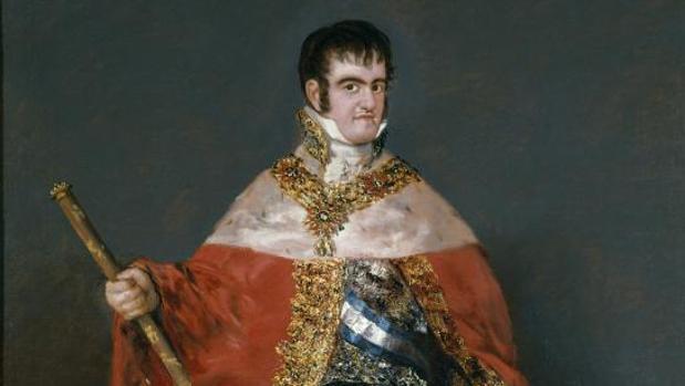 Un retrato del rey Fernando VII realizado por Goya