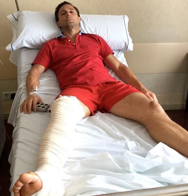 Rafaelillo, en la cama del hospital