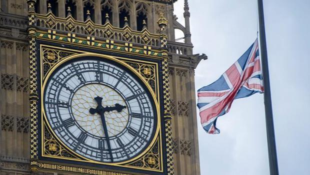 Vista de la sede del parlamento británico
