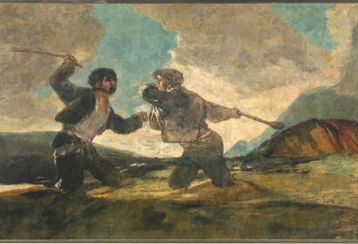 «Duelo a garrotazos» de Francisco Goya