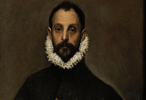 «El caballero de la mano en el pecho», del Greco. Detalle