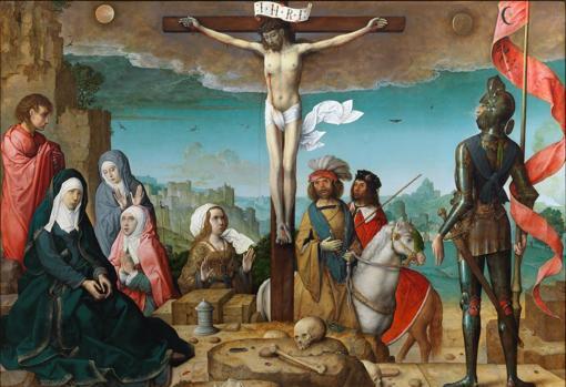 «La Crucifixión» de Juan de Flandes