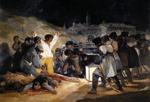 «Los fusilamientos del 3 de mayo» de Goya.