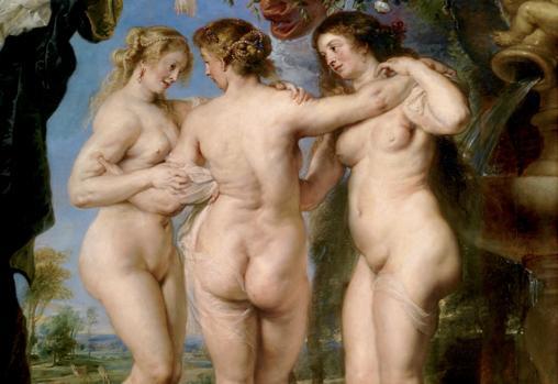 «Las tres Gracias» de Rubens. Detalle