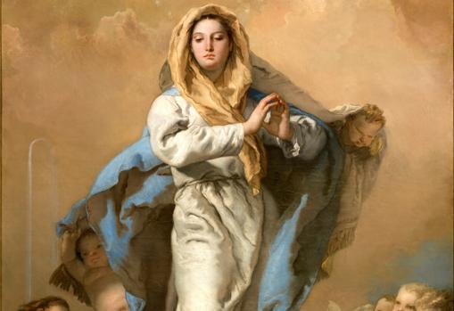 La «Inmaculada Concepción» de Tiepolo. Detalle