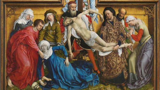«El Descendimiento» de Rogier van der Weyden. Detalle