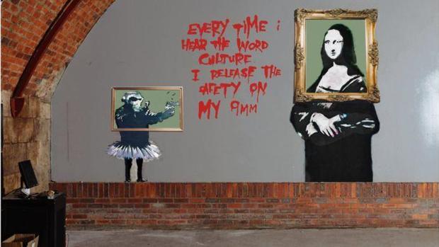 El mural fue creado para una exposición en The Arches en 2001