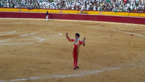 López Simón, con las dos orejas del sexto