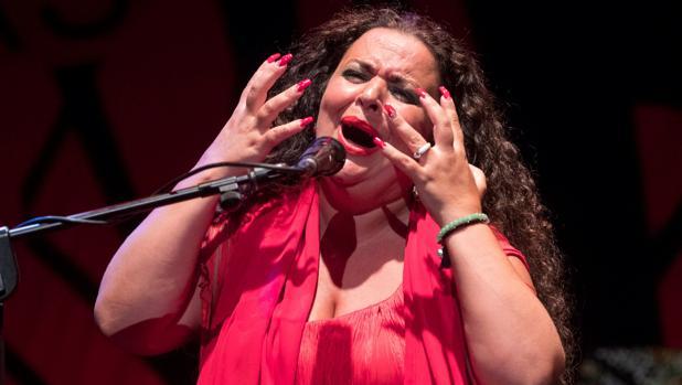 María José Carrasco, durante su actuación en el festival