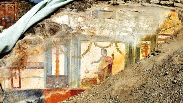 El fresco de Priapo en Pompeya