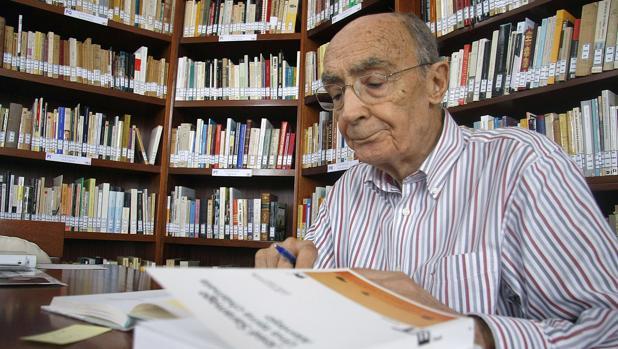 Saramago, en su casa de Lanzarote en 2009