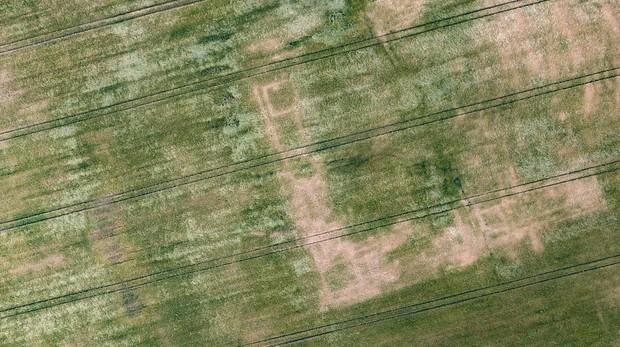 Vista desde la altura del lugar que ocuparía la antigua villa romana