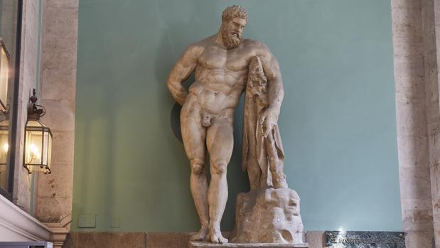 La Real Academia de Bellas Artes trasladará el Hércules Farnese hacia un patio interior por seguridad