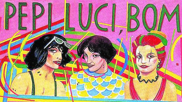 Una de las grandes imágenes de la cultura ochentera: el cartel de «Pepi, Luci, Bom y otras chicas del montón» realizado por Ceesepe