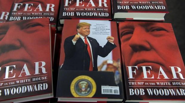 Varios ejemplares de «Fear» («Miedo») en una librería en Estados Unidos