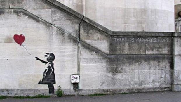 Imagen de archivo de una obra de Banksy