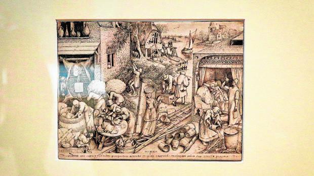 «La Prudencia», dibujo inédito de Bruegel el Viejo