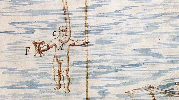 Buzo dibujado por Pedro de Ledesma en 1623