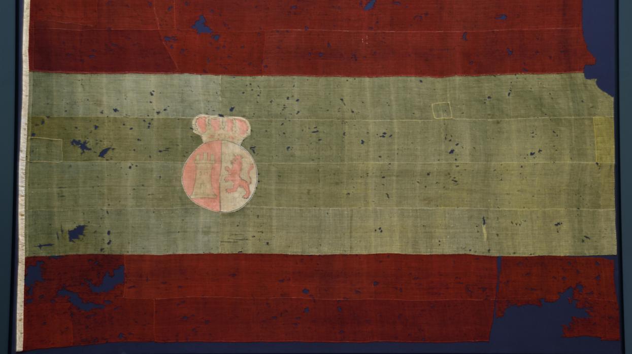 El Museo Naval expone la bandera rojigualda más antigua que se conserva en España