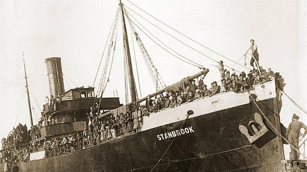 El «Stanbrook» fue uno de los barcos del exilio