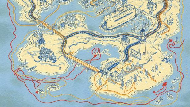 Mapa de «Tiburón» del atlas «Cinemaps»
