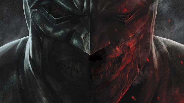 Detalle de la portada de «Batman: Damned»