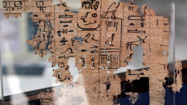 Foto de archivo del papiro del rey Yufu