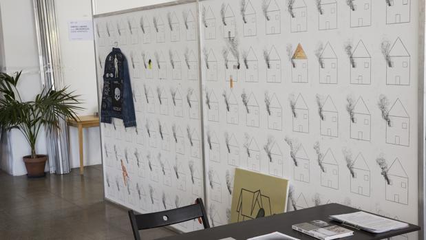 Detalle del falso estand de Samuel Labadie, Jan Monclús y David Armengol en AF.FAIR