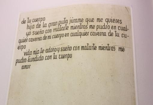 Un fragmento del texto de Cela