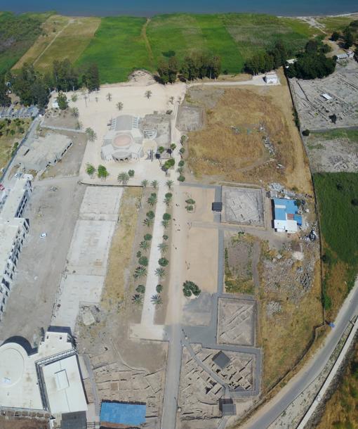 Vista del yacimiento arqueológico tomada desde un dron