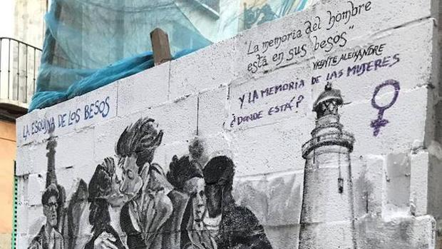 El mural que Ángel Idígoras ha decidido borrar después de las críticas por «machista»