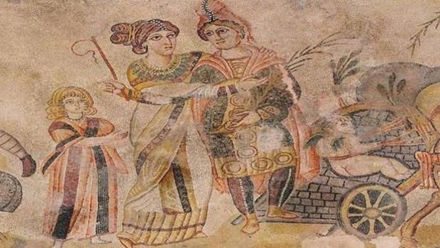 Parte del famoso mosaico de Noheda