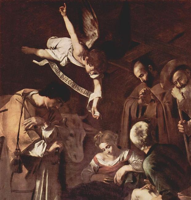 La «Natividad con San Francisco y San Lorenzo», de Caravaggio