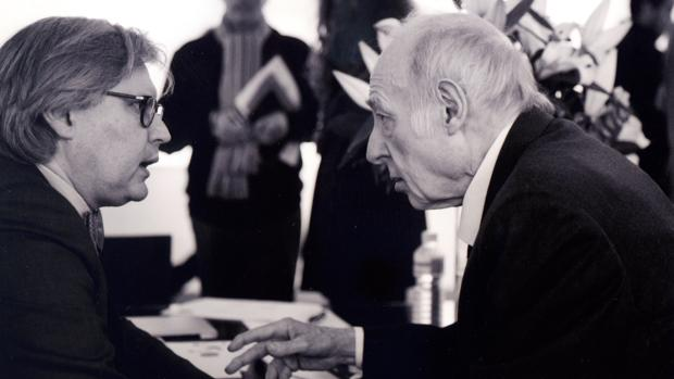 Javier Jiménez y Eduardo Arroyo, en la pasada edición de ARCO