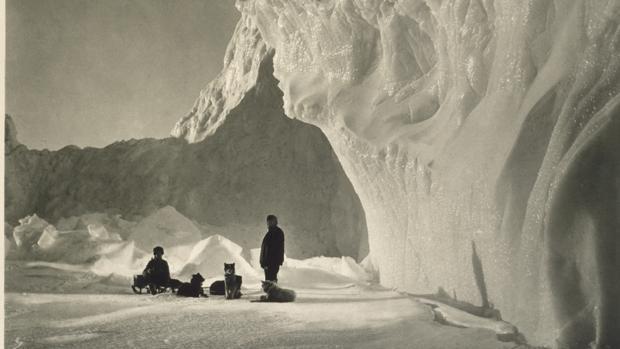 Fotografía tomada por Herbert Poting, durante la expedición de Robert Scott en 1910