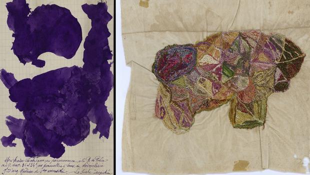 Uno de los «clichés» y un bordado de Jeanne Tripier