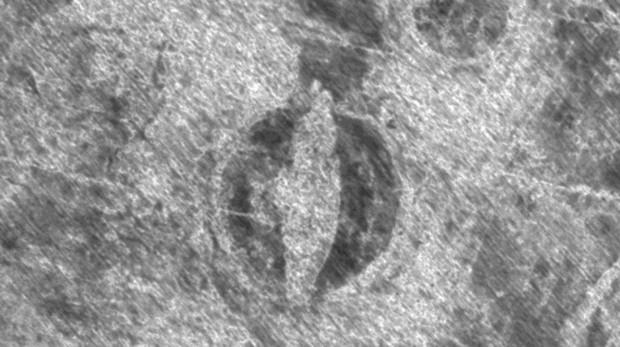 Imagel del barco vikingo detectado por el georadar