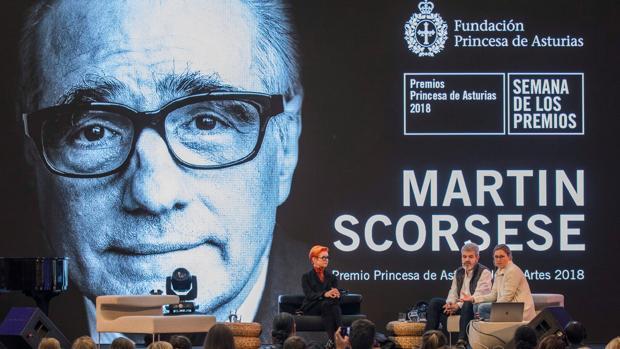 Uno de los actos que la Fundación Princesa de Asturias ha organizado en Oviedo en homenaje a Scorsese